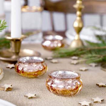 Candelabro de Cristal Rosa Dorado 4 unidades - Compra en The Wedding Shop