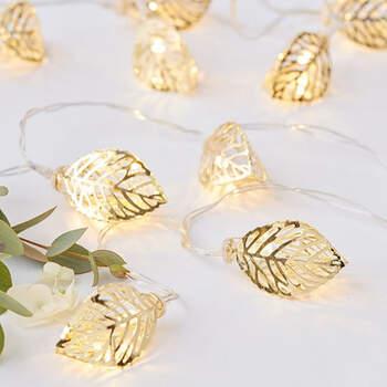 Foto: Luces de hojas de oro
