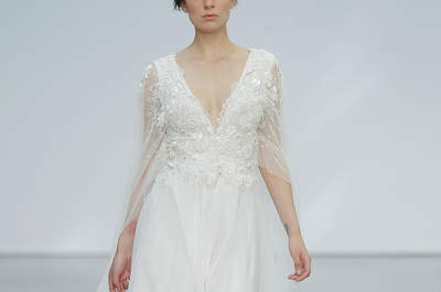 Vestidos de novia para mujeres bajitas. ¡Diseños que te dejarán boquiabierta!