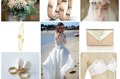 Look pour une mariée romantique.