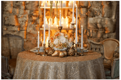 Inspiraçõ de Natal para a decoração da mesa do seu casamento!