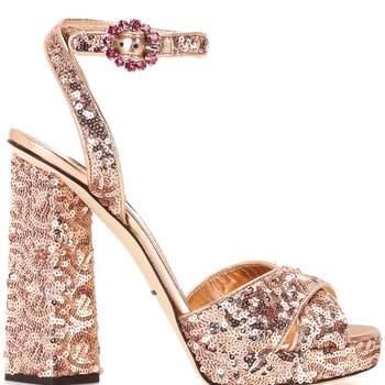 Sandálias de lantejoulas de Dolce & Gabbana (695 euros)