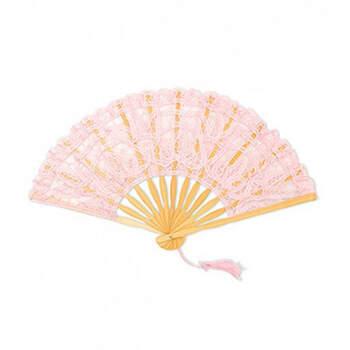 Abanico de encaje rosa - Compra en The Wedding Shop