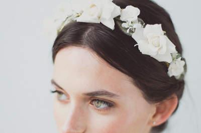 Los mejores tocados para novia, son únicos. ¡No pueden faltar en tu estilismo nupcial!