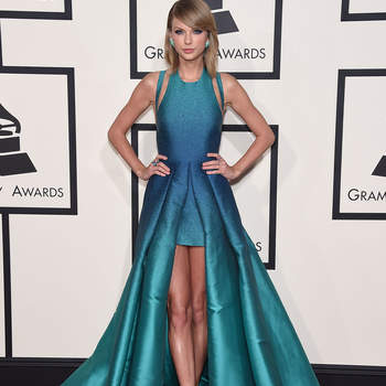 Singer Taylor Swift arriving for the 57th Grammy Awards in Los Angeles on February 8, 2015.