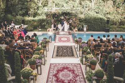 Seis ideas para decorar el camino hacia el altar al aire libre. ¡No te lo pierdas!