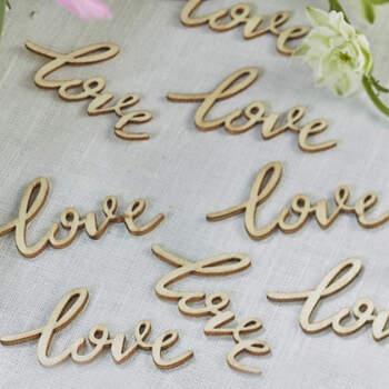 Letras de madera Love 25 unidades- Compra en The Wedding Shop
