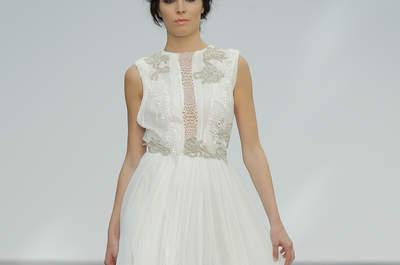 Vestidos de novia escote redondo. ¡Luce un escote clásico y elegante!