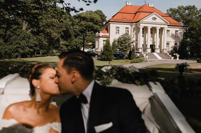 Reportaż ślubny z pałacu, gdzie