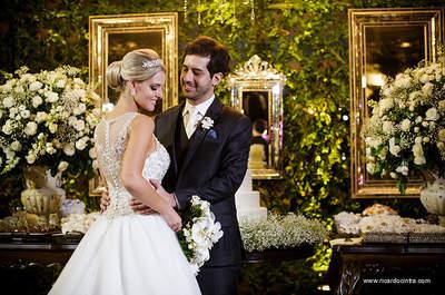 Patricia & Gabriel: casamento de conto de fadas clássico no interior de São Paulo!
