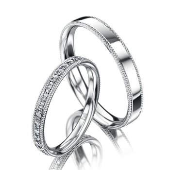 Meister - aliança em prata com brilhantes. Preços entre os 700€ e os 1.000€