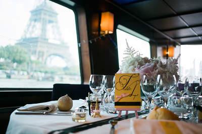 Your wedding in Paris, Seine River. © Trentième Etage