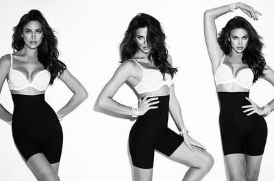 La modelo Irina Shyak es imagen de la línea de shapers de Blanco. Foto: Blanco