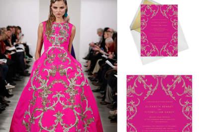 Lujo en papel: Oscar de la Renta lanza una línea de invitaciones de boda