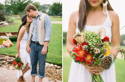 Ländliche Brautsträuße mit Stil