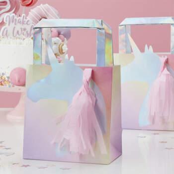 Bolsa fiesta Unicornio Iridiscente 5 unidades- Compra en The Wedding Shop