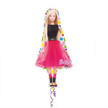 """Globo de aluminio de 42 """"con forma de superestrella Barbie- Compra en The Wedding Shop"""