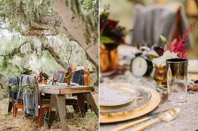 Herbstliche Hochzeitsdekoration: rustikal und romantisch!