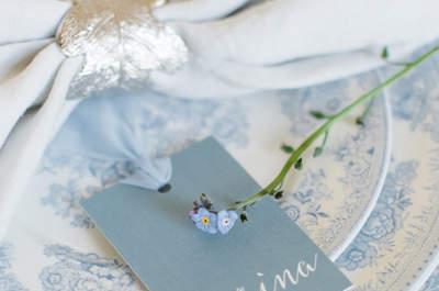 Algo viejo, algo prestado y algo azul... ¡Decora tu boda con el color del mar!
