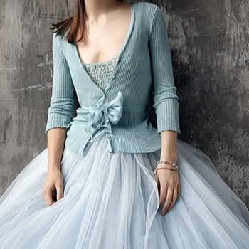 Vestido delicado y romántico si tienes la fantasía de lucir un vestido de color.