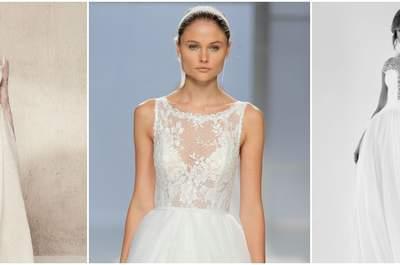 Vestidos de novia con escote ilusión: ¡encuentra tu favorito!