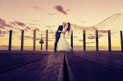 Hannahs und Alessandros Hochzeit mit traumhafter Aussicht über den Dächern Kölns