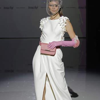 Isabel Zapardiez. Créditos Barcelona Bridal Fashion Week