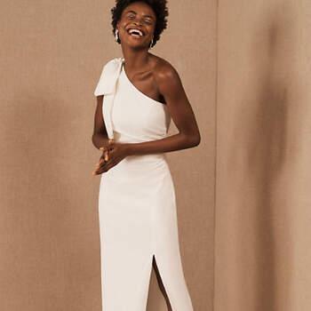 Créditos: BHLDN, ML Monique Lhuillier Lionel One-Shoulder Dress