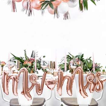 Ballon Mr et Mme Rose Gold - The Wedding Shop !