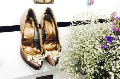 Karolina Fresneda: zapatos de novia e invitada para una boda llena de magia