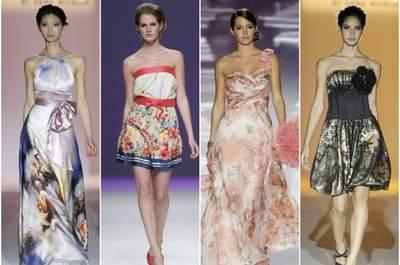 Coloridos vestidos de fiesta con estampados de la temporada 2013