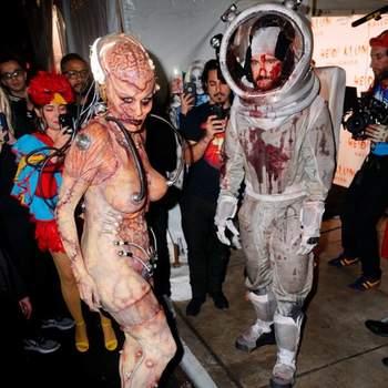 Heidi Klum e  Tom Kaulitz no Halloween. Foto Reprodução Instagram