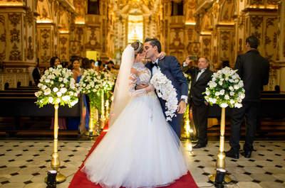 Casamento clássico de Isis & Camilo: cerimônia na Antiga Sé, festa no Copacabana Palace, tudo impecável!