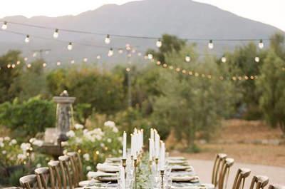 Tendencias para decorar las mesas del banquete de tu matrimonio. ¡Más de 40 fabulosas opciones!