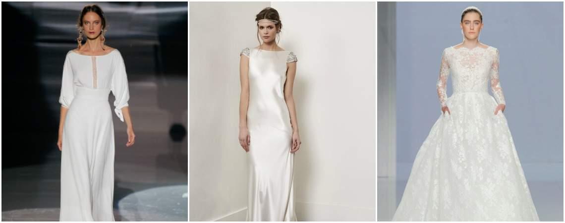 Brautkleider mit U-Boot-Ausschnitt, seien Sie bei Ihrer Traumhochzeit voll im Trend