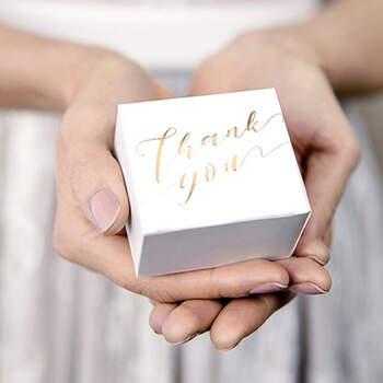 Caja Thank You Oro 10 Unidades- Compra en The Wedding Shop