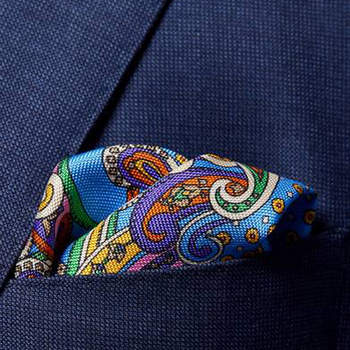 Paisley Silk Pocket Square eton