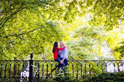 Fotografías pre boda relajadas y sencillas