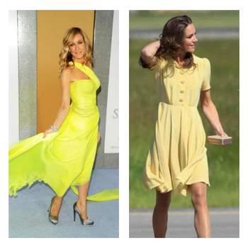L'attrice di SEX AND THE CITY e la Duchessa di Cambridge hanno scelto entrambe un abito giallo