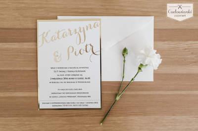 Jakie zaproszenia powinniście wybrać na swój ślub? Poradnik eksperta.