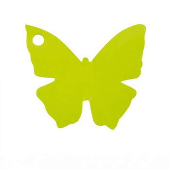Marcasitio Mariposa De Cartón Verde 10 Unidades- Compra en The Wedding Shop