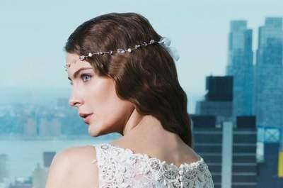 Brautfrisuren für Bräute mit gelocktem oder welligen Haar
