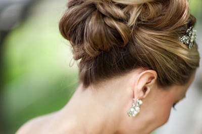 Peinado de novia con recogido alto este 2015