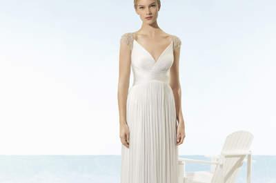 Los más románticos vestidos de novia corte imperio para que causes sensación