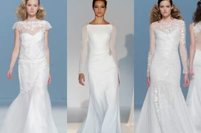 Los vestidos de corte sirena vuelven a los armarios de las novias en 2015