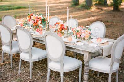 Fruit ou couleur pêche : inspiration romantique pour mariage incroyable