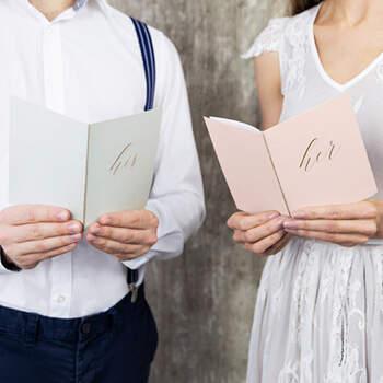 Libritos De Promesas Blanco y Rosa- Compra en The Wedding Shop