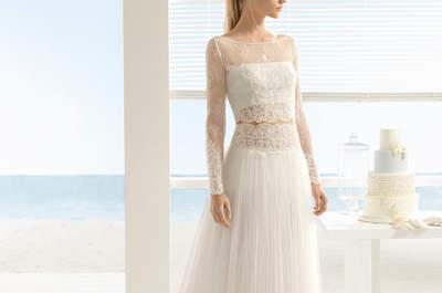 Espectaculares vestidos de novia de dos piezas. ¡Arrasa con estas propuestas!