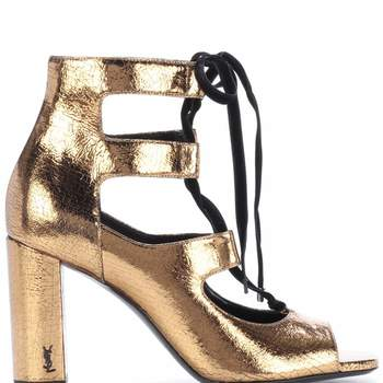 Sandálias metálicas de Saint Laurent (795 euros)