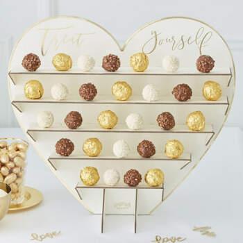 Soporte chocolates oro boda- Compra en The Wedding Shop